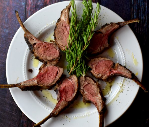 Honey and herb crusted rack of lamb