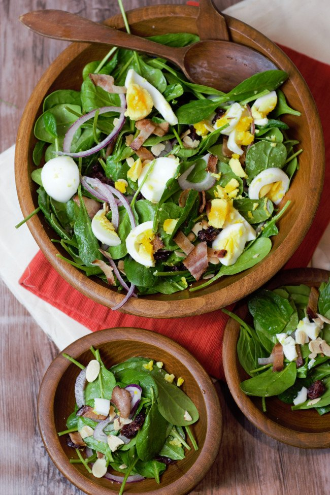 Wilted Spinach Salad With Bacon Dressing Delicious By Design