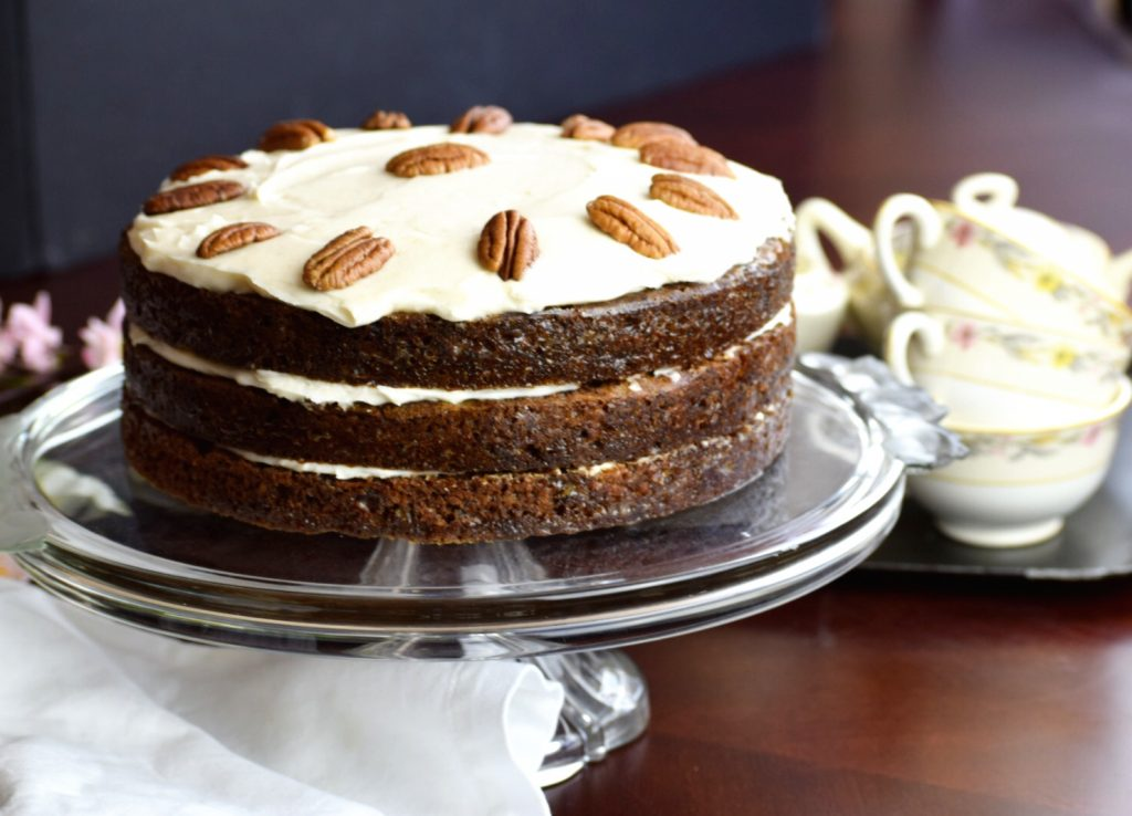 Cinnamon Cream Cheese Carrot Cake