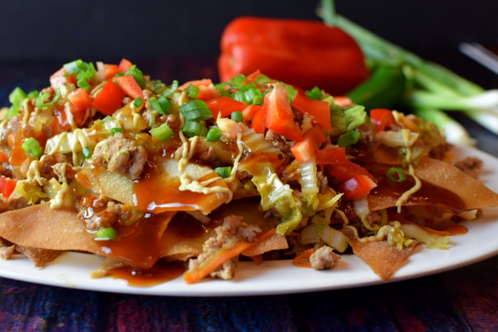 Deconstructed Egg Roll Nachos