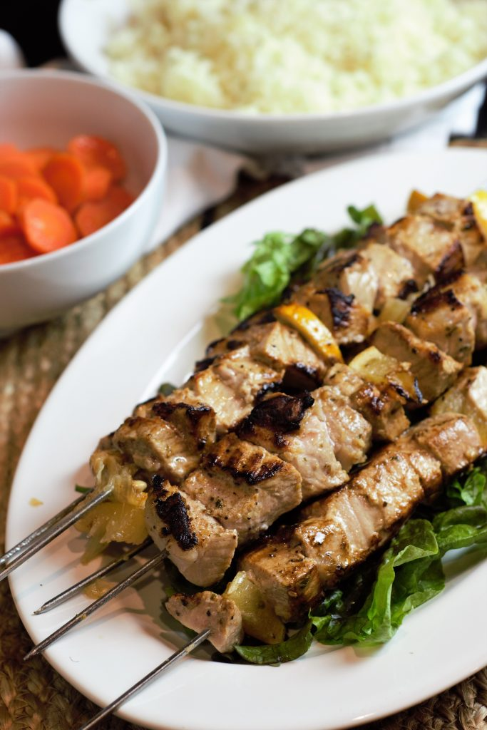 Pork Souvlaki Skewers with Marinade