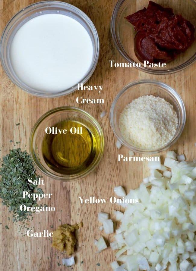 pasta wit tomato cream sauce ingredients